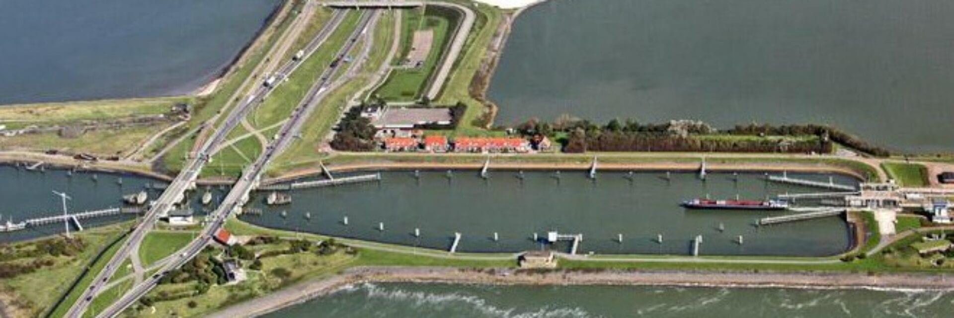 Kornwerderzand aerial view