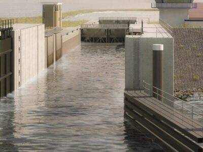 storn surge barriers at den Oever